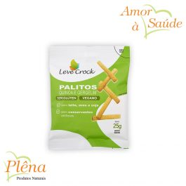 Palitos Salgados de Quinoa e Gergelim – 25g – Leve Crock – Sem Glúten – Sem Lactose