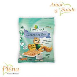 Tabletitos de Chia – 25g – Leve Crock – Sem Glúten – Sem Lactose
