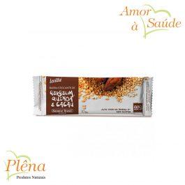 Barra de Cereais Crocante de Gergelim, Quinoa e Cacau Levitta – 10g – Banana Brasil – Sem Glúten – Sem Açúcar