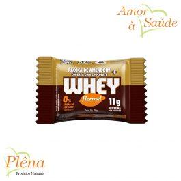 Paçoca de Amendoim Coberta com Chocolate + Whey – 30G – Flormel – Sem Glúten Sem Açúcar
