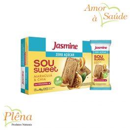 Biscoito Sou Sweet Maracujá e Chia – 90g – Jasmine – Sem Açúcar