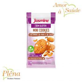 Mini Cookies Castanhas do Pará e de Caju – 35g – Jasmine – Sem Glúten
