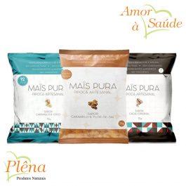 Pipoca Artesanal 75g – Maïs Pura – Sem Glúten Vegano