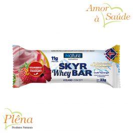 Skyr Whey Bar de Morango com Iogurte de Hibisco – 33g – Nature Real Nutrition – Sem Glúten – Sem Açúcar