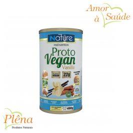 Proto Vegan Vanilla – 480g – Nature Real Nutrition – Sem Glúten – Sem Lactose