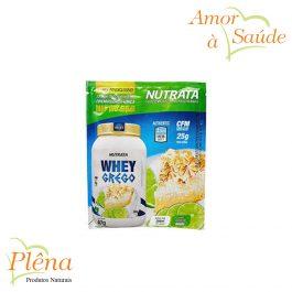 Sachê Whey Grego Sabor Torta de Limão – 40g – Nutrata – Sem Glúten – Sem Lactose